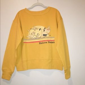 Lion king pull over sweater